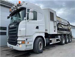 Scania Torrsug saneringsbil flexloader vacuumsug