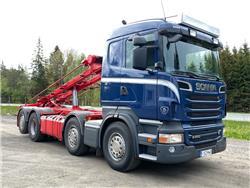 Scania R500 8x2*6 vaijerilaite, ohjaava teli, Vaihtolava-autot, Kuljetuskalusto