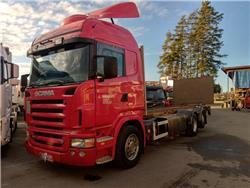 Scania R500 6x2 hydr tasonosto,pl-nostin, Kontti-/tasonostoautot, Kuljetuskalusto