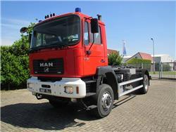 MAN 19.364 Haakarm/Hooklift/Abrolkipper, Hook lift trucks, Transportation