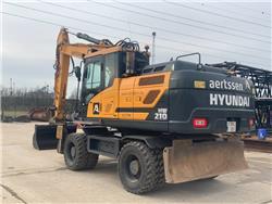 Hyundai HW 210, Wheeled excavators, Construction