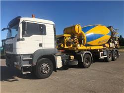 MAN 18.440 + De Buf BM10-33-2B mixer, Concrete pump trucks, Construction