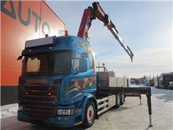 Scania G 490 + HMF 3220-k7 (2014) EURO 6, Boom / Crane / Bucket Trucks, Trucks and Trailers
