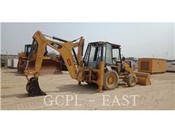Caterpillar 424B, backhoe loader, Construction