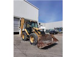 Caterpillar 444F, backhoe loader, Construction