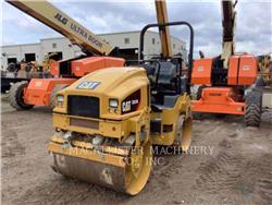 Caterpillar CB34B、双轮压路机、建筑设备