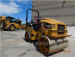 Caterpillar CC34B, Twin drum rollers, Construction