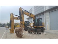 Caterpillar M313D、ホイール油圧ショベル、建設