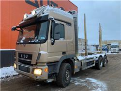 Sisu Polar Actros V8 6x4  Euro 5, Log trucks, Trucks and Trailers