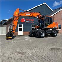 Doosan DX140W-5, Wheeled Excavators, Construction