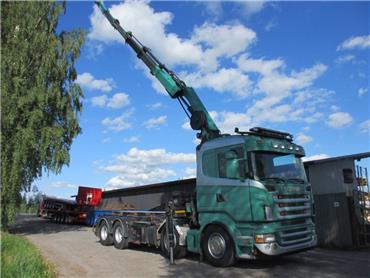 Scania R500 8x4 vaijerilaite+HIAB 288 vm-15, Vaihtolava-autot, Kuljetuskalusto