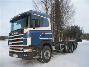 Scania R144 8x2 konttilukot/alusta MYYTY!!!, Kuorma-autoalustat, Kuljetuskalusto