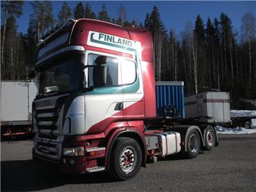 Scania R500 6x2 takateliveturi, Vetopöytäautot, Kuljetuskalusto