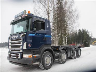 Scania R420 vaijerilaite, rautajouset, Vaihtolava-autot, Kuljetuskalusto