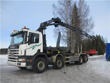 Scania P114 8x2 koukkulaite+HMF 2020 -10, Nosturiautot, Kuljetuskalusto