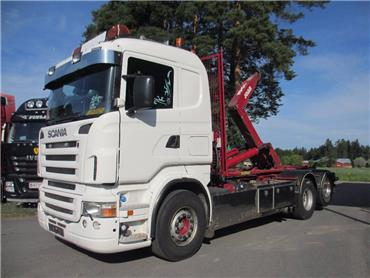 Scania R12 6x2 rautajouset, JOAB koukkulaite, Koukkulava kuorma-autot, Kuljetuskalusto