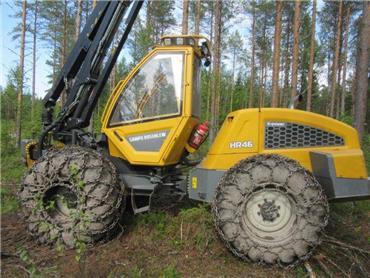 Sampo-Rosenlew HR 46 X, Harvesterit, Metsäkoneet