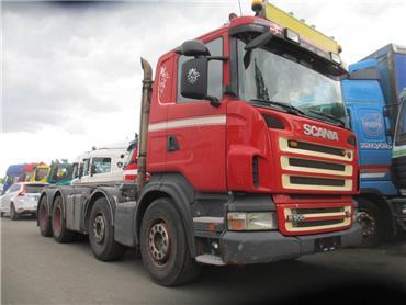 Scania R500 8x4 vaijerilaite,manuaalivaihteet, Vaihtolava-autot, Kuljetuskalusto