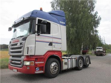 Scania R500 6x2 takateliveturi,hydrauliikka, Vetopöytäautot, Kuljetuskalusto
