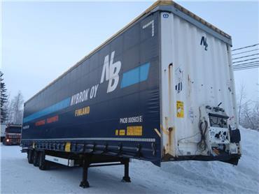 Krone Liukukatto,sisäkork 3m, Pressukapellipuoliperävaunut, Kuljetuskalusto