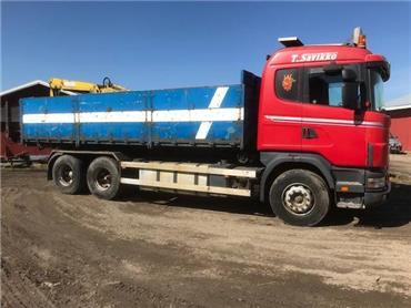 Scania R144 6x2 vaihtolavalaite,rautajouset, Vaihtolava-autot, Kuljetuskalusto