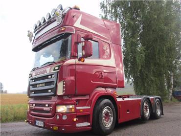 Scania R500 väliteli, paperikiekko, MYYTY!!!, Vetopöytäautot, Kuljetuskalusto