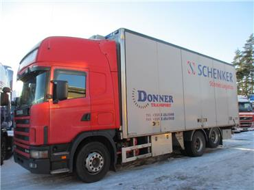 Scania R164 6x2 kokosivuauk.kori, Umpikorikuorma-autot, Kuljetuskalusto