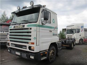 Scania R143 6x2 rautajousi alusta, Kuorma-autoalustat, Kuljetuskalusto
