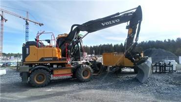 Volvo EW160E, Hjulgrävare, Entreprenad