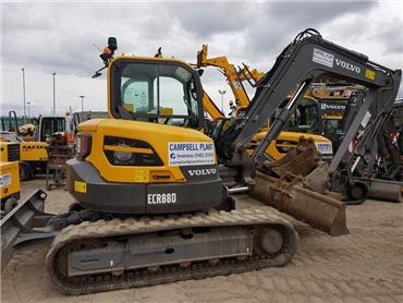 Volvo ECR88D, Midi excavators  7t - 12t, Construction