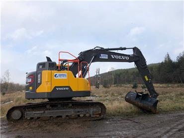 Volvo ECR235 E, Crawler excavators, Construction