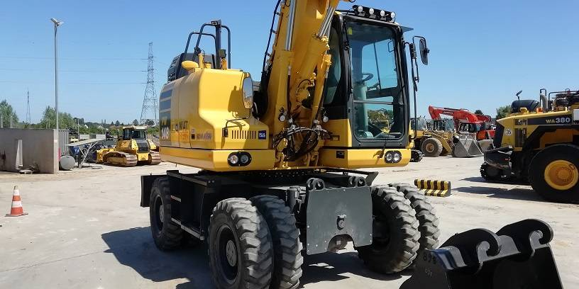 Komatsu PW 148-11, Wheeled Excavators, Construction Equipment