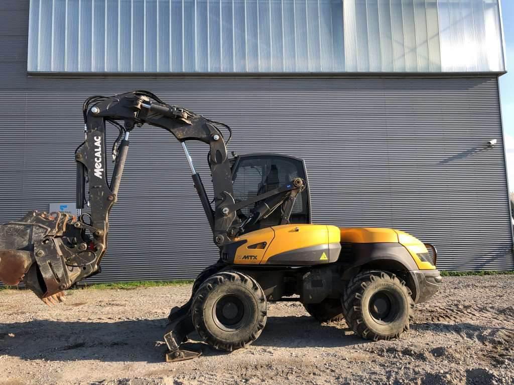 Mecalac 12MTX, Wheeled Excavators, Construction