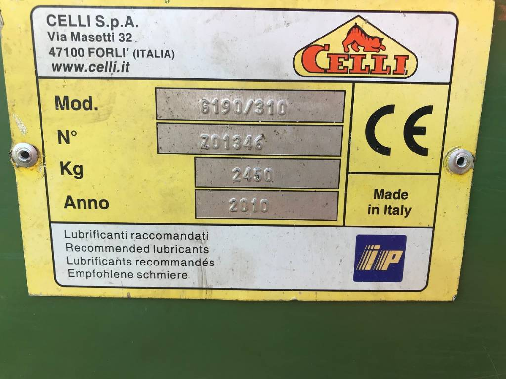 Celli G190/310 soitmachine, Overige grondbewerkingsmachines en accessoires, All Used Machines