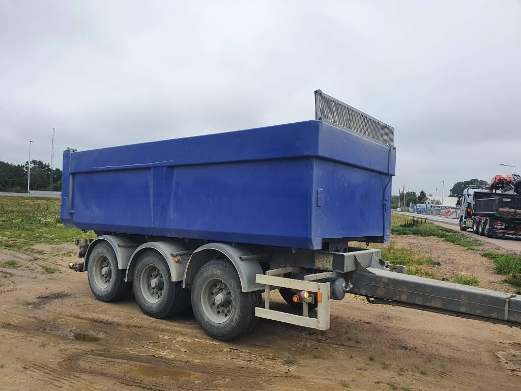 Briab Treaxlig tippkärra 24.000 kg, Dump Trailers, Trucks and Trailers