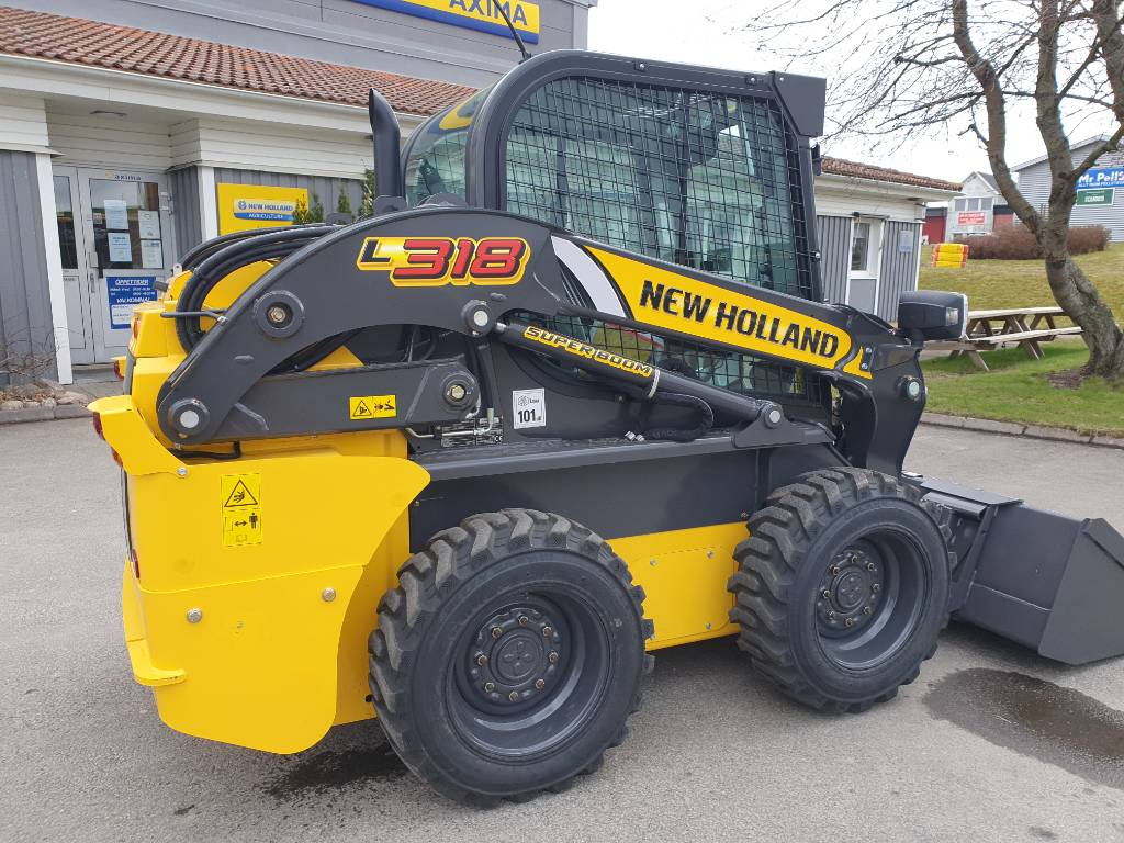New Holland L318 Skid Steer SuperBoom, Kompaktlastare, Entreprenad