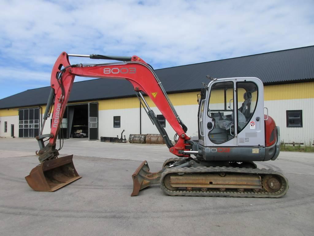 Neuson 8003 RD grävmaskin, Midigrävmaskiner 7t - 12t, Entreprenad