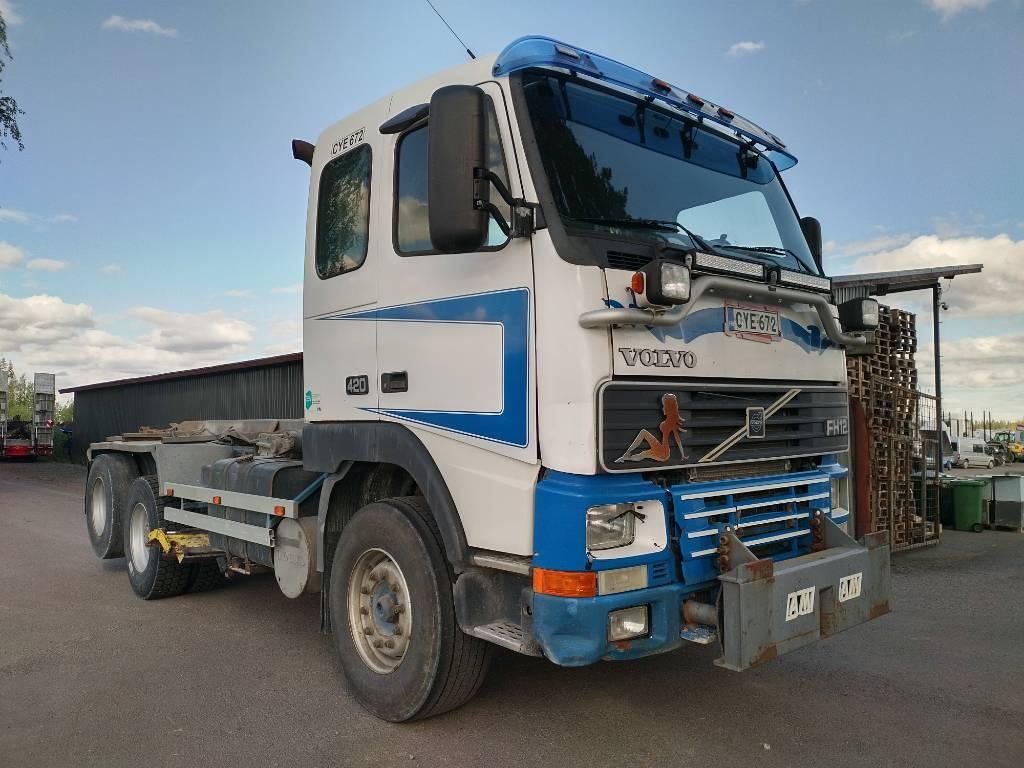 Volvo FH12 vl-laite,aurausvarustus alaterä, Vaihtolava-autot, Kuljetuskalusto