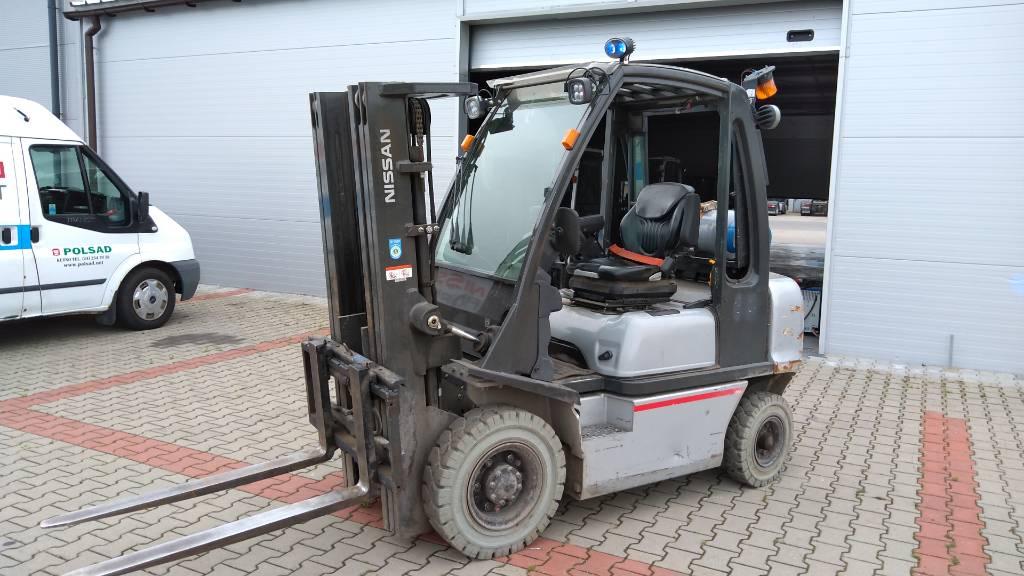 Nissan U1D2A25LQ, LPG trucks, Material Handling