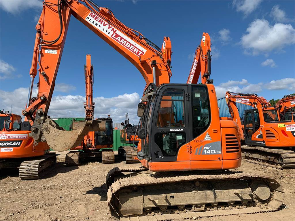 Doosan DX140LCR, Crawler Excavators, Construction Equipment