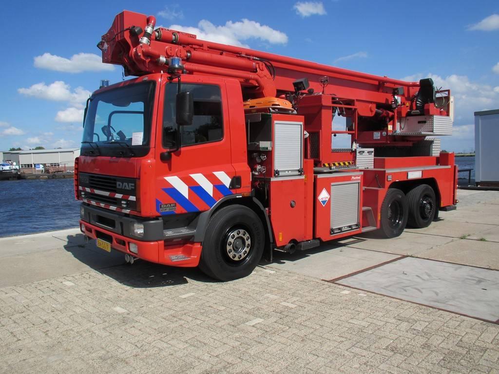 DAF 75CF320  Hoogwerker, Carros de bombeiros, Transporte