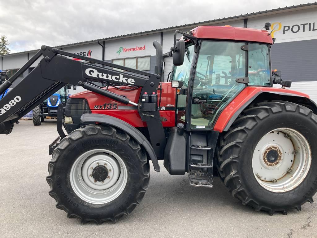 Case IH MX 135 + Quicke etukuormain, Traktorit, Maatalous