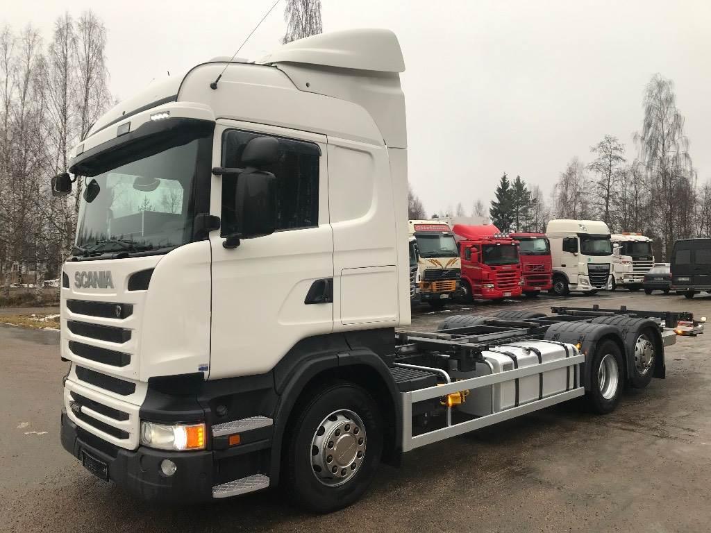 Scania R490 6x2 ajettu vain 304tkm BDF laite ja perälauta, Kontti-/tasonostoautot, Kuljetuskalusto
