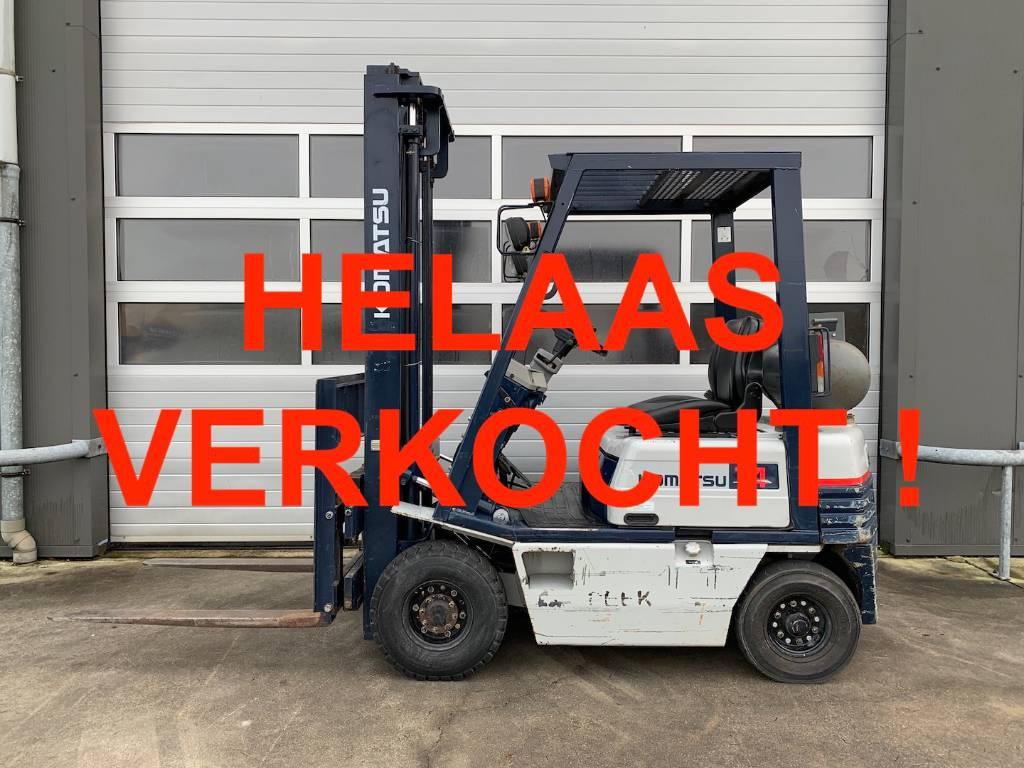 -VERKOCHT- Komatsu 1.5 ton LPG heftruck Komatsu FG14-15 heftruck clar, LPG heftrucks, Laden en lossen