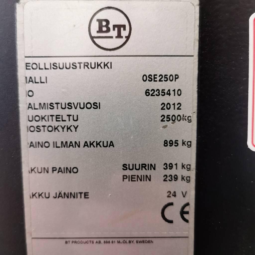 BT OSE 250 P, Matalakeräilytrukit, Materiaalinkäsittely