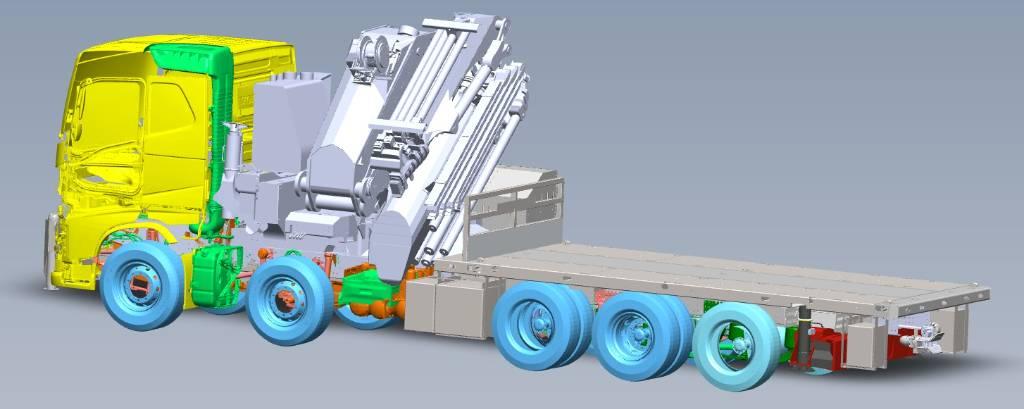 Volvo FH13 540, Crane trucks, Transportation