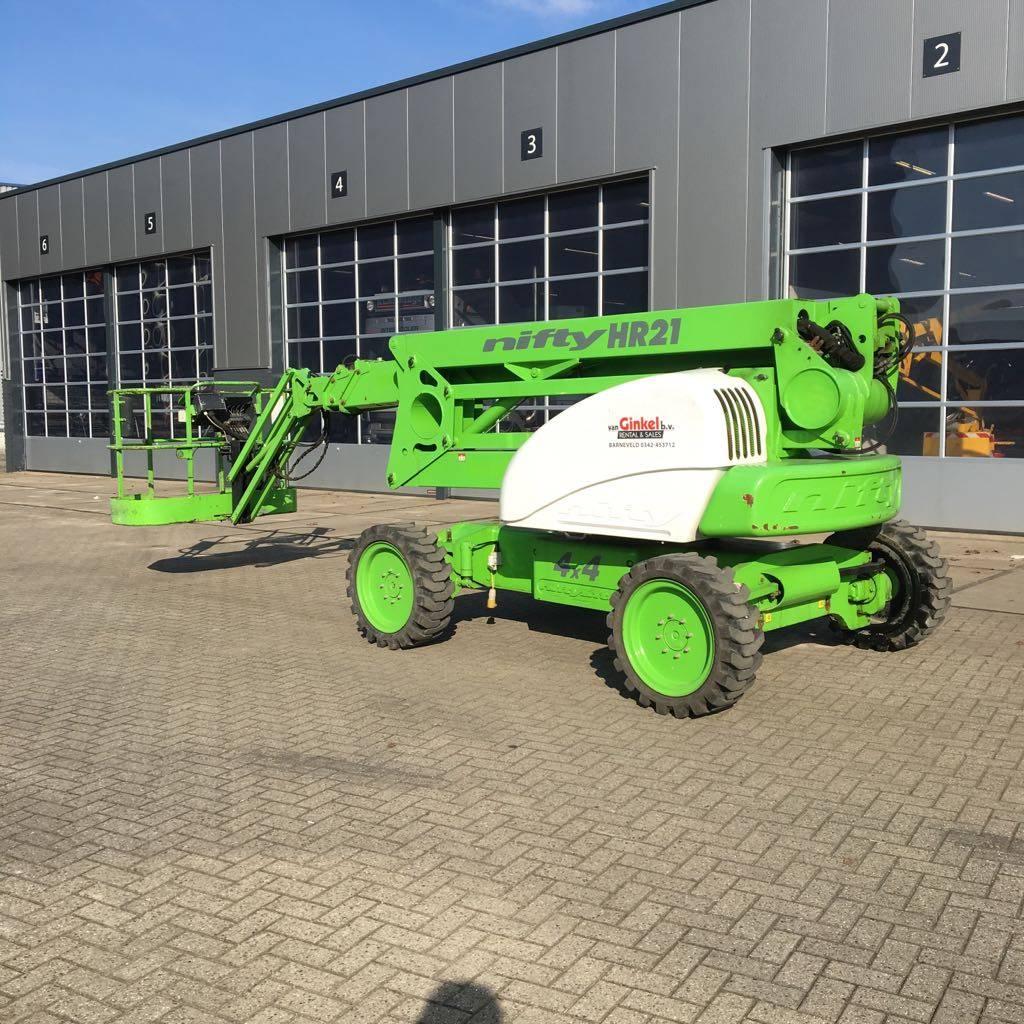 Niftylift HR 21 4x4, Knikarmhoogwerkers, Bouw