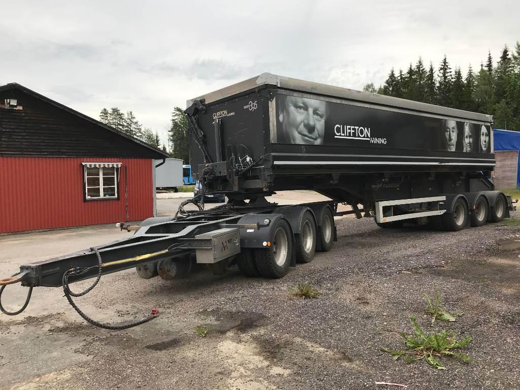 Parator ST 24-27 malmvagn, Tipptrailer, Transportfordon