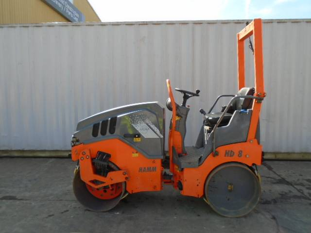 Hamm HD 8 VV, Twin drum rollers, Construction