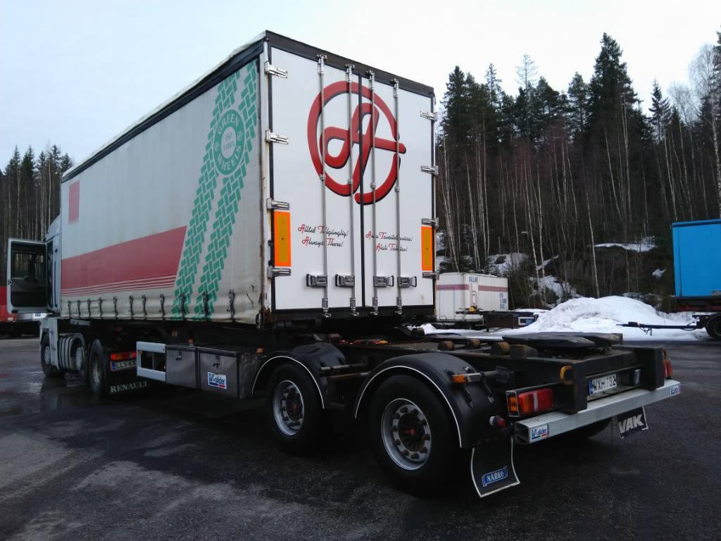 VAK V-slider liukukapelli, Pressukapellipuoliperävaunut, Kuljetuskalusto